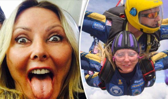 Carol Vorderman skydive Twitter photos boyfriend