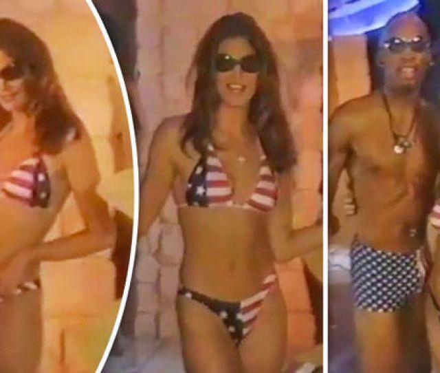 Cindy Crawford Strips Off Bikini Dennis Rodman