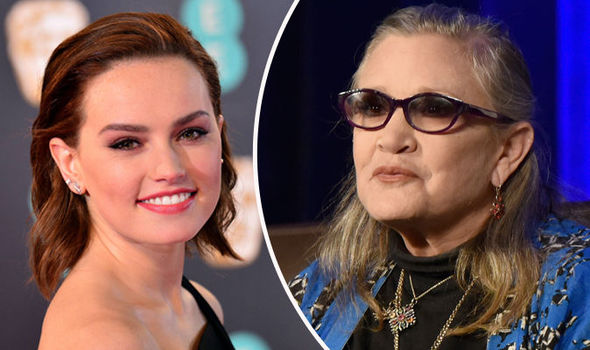 Stars Wars actress Daisy Ridley has spoken about Carrie Fisher