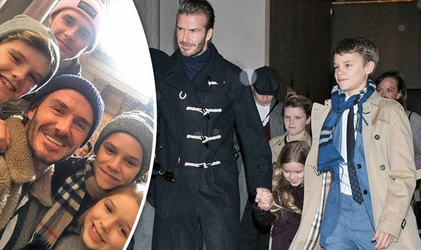 David Beckham Victoria New York Fashion Week