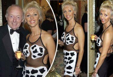Debbie McGee wows in racy sheer dress beside late husband Paul Daniels in daring throwback