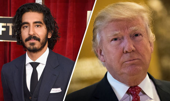 Dev Patel and Donald Trump