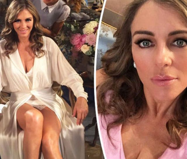 Elizabeth Hurley Flaunts Cleavage In Sexy Snap