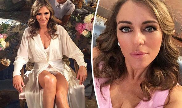 Elizabeth Hurley Flaunts Cleavage In Sexy Snap