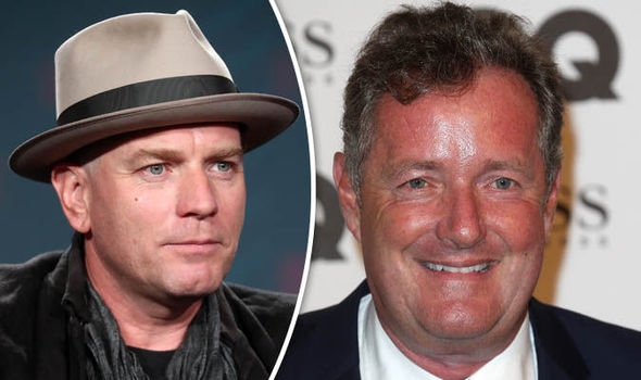Ewan McGregor and Piers Morgan
