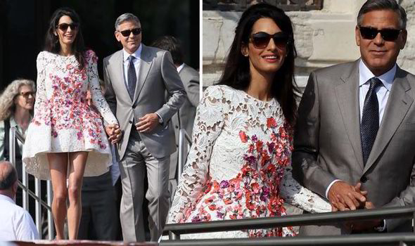 George Clooney Amal Alamuddin wedding day