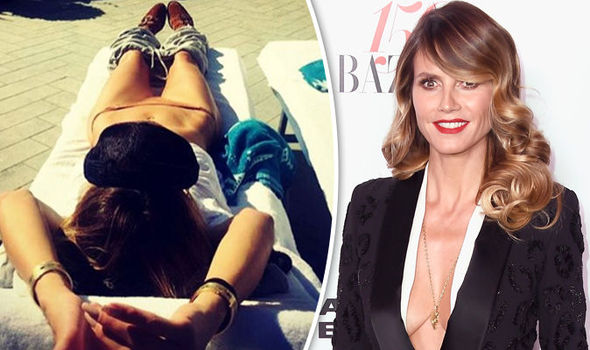 Heidi Klum Instagram bikini tan lines