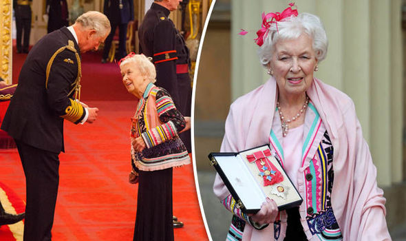Wonderful! June Whitfield Is Absolutely Delighted To Receive A Damehood At Buckingham Palace