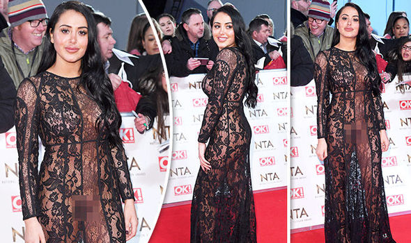 Marnie Simpson reveals all in sheer dress