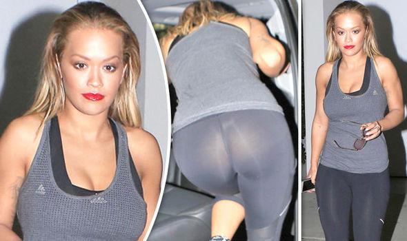 Rita Ora bottom flash Instagram Los Angeles