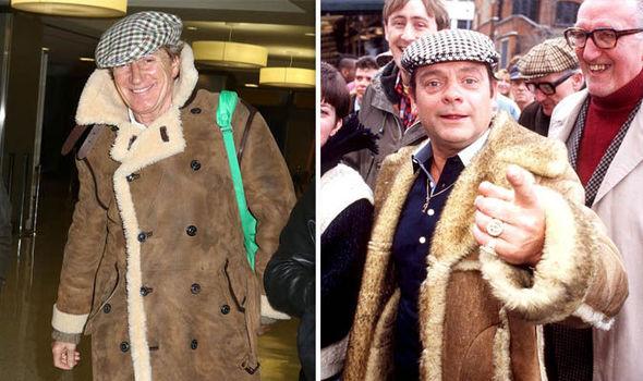 Rod Stewart in Del Boy coat