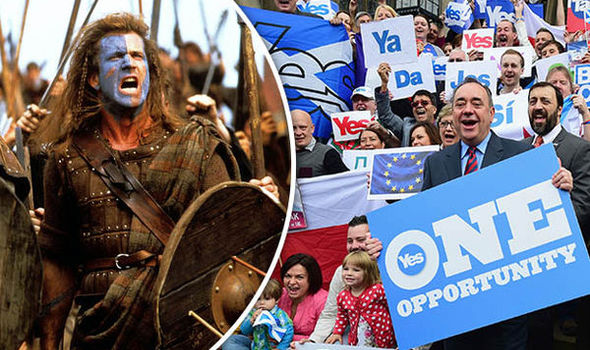 Alex Salmond in the run up to the referendum