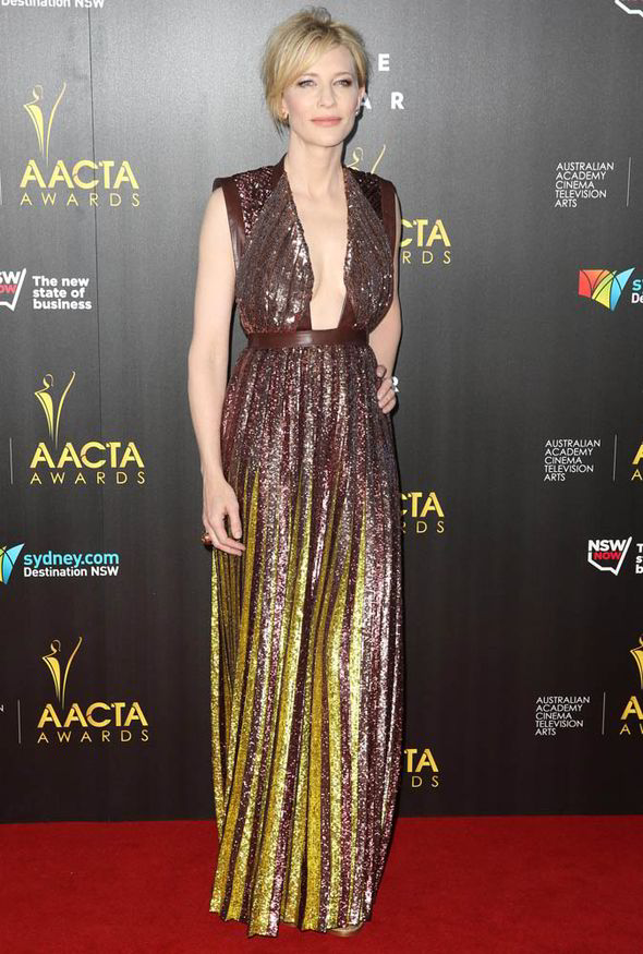 Cate Blanchett Goes For The Plunge In Sexy Sequin Gown At
