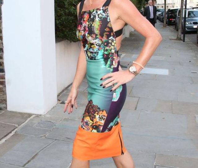 Amanda Holden Itv Summer Party Sexy Backless Dress Britains Got Talent Piers