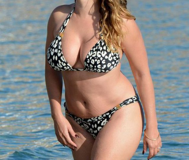 The Curvy Model Looked Fantastic In A Leopard Print Bikini