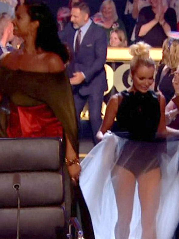 Alesha Dixon flaunted her legs on Britain's Got Talent