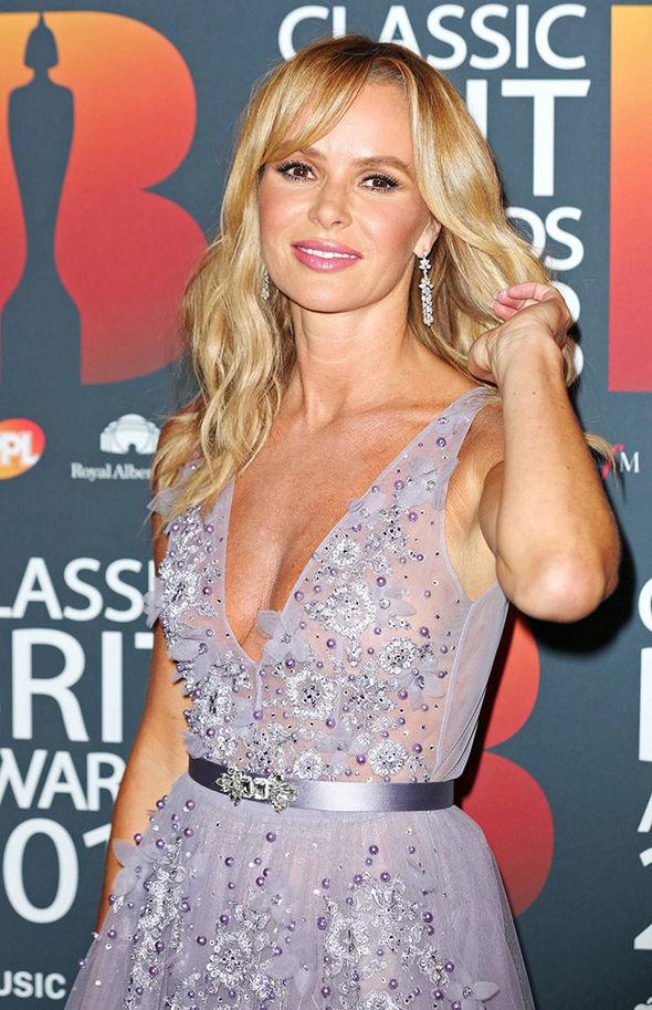 Amanda Holden Instagram Stars Splays Legs In Gown As She