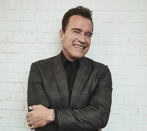 Arnold Schwarzenegger meets Pope Francis