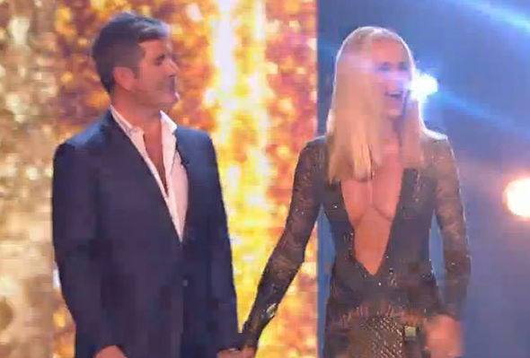 Britain's Got Talent 2017 Amanda Holden dress cleavage inappropriate Twitter