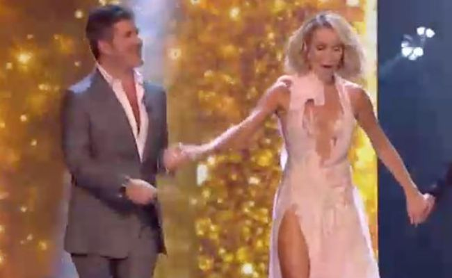 Amanda Holden Sparks Meltdown In Jaw Dropping Slashed Gown