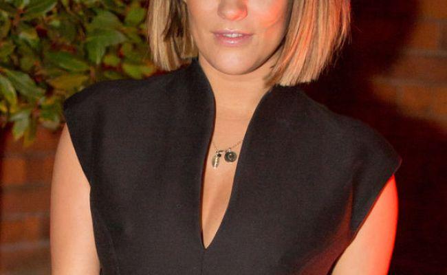 Caroline Flack Flaunts Nipples In Plunging Little Black