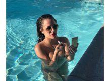Caroline Flack topless Instagram Paul Chuckle