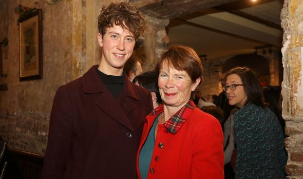 Celia Imrie with her son Angus.