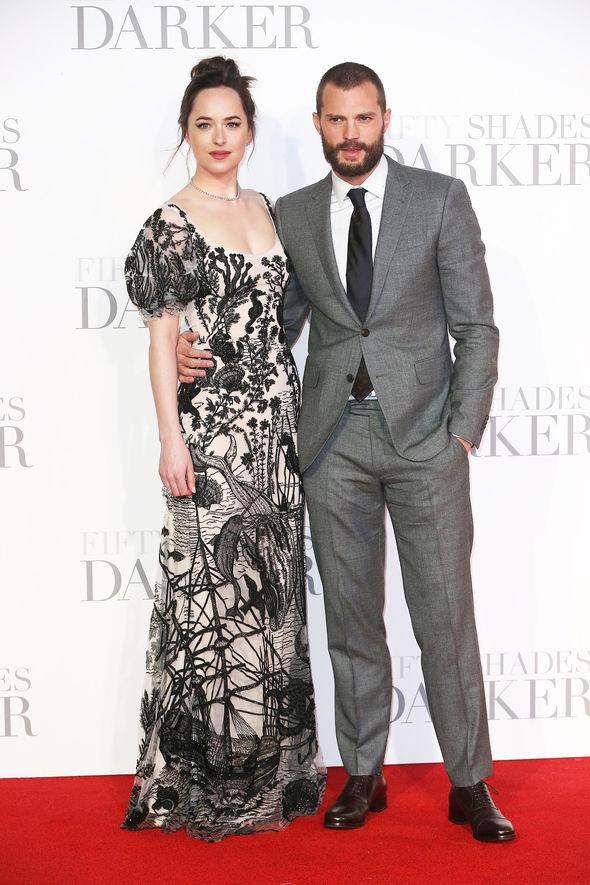 Dakota Johnson and Jamie Dornan at the premiere
