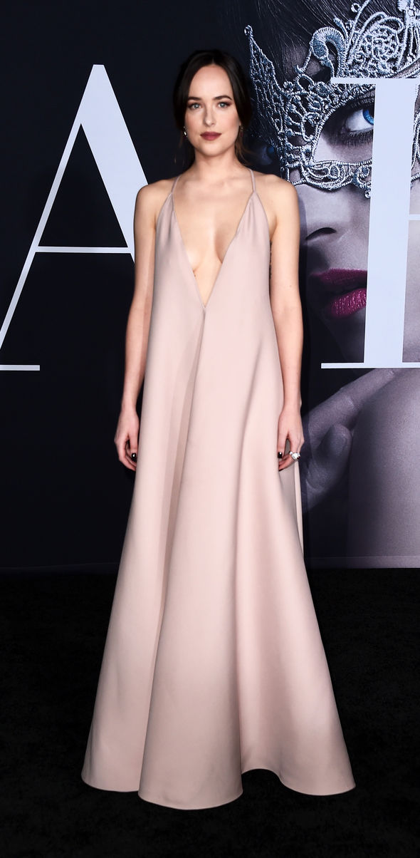 Dakota Johnson went braless at the premiere