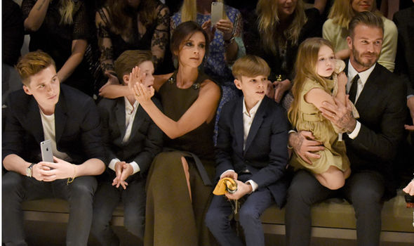 David and Victoria Beckham and kids