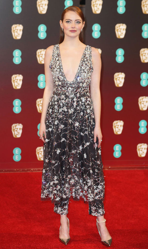 Emma Stone BAFTAs red carpet dress La La Land