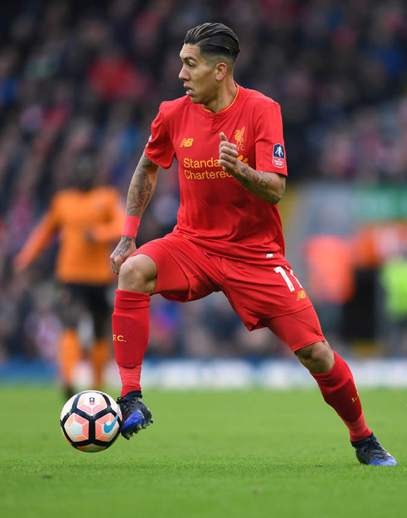 Roberto Firmino with football