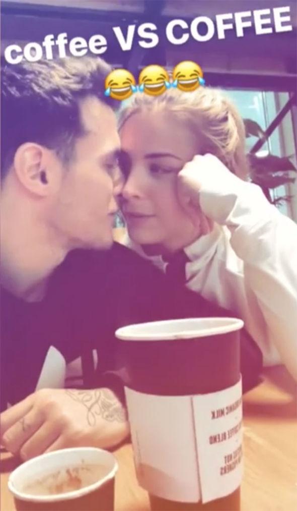 Gemma Atkinson Instagram: Gorka Marquez kissing his girlfriend