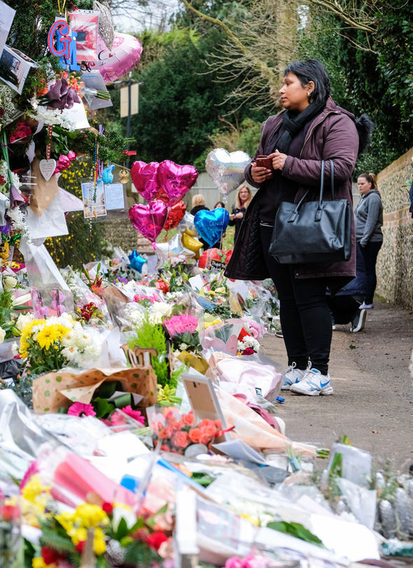 George Michael tributes outside his home