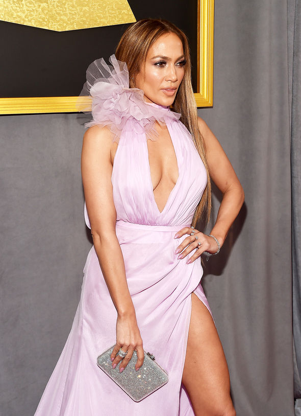Jennifer Lopez flaunted major cleavage