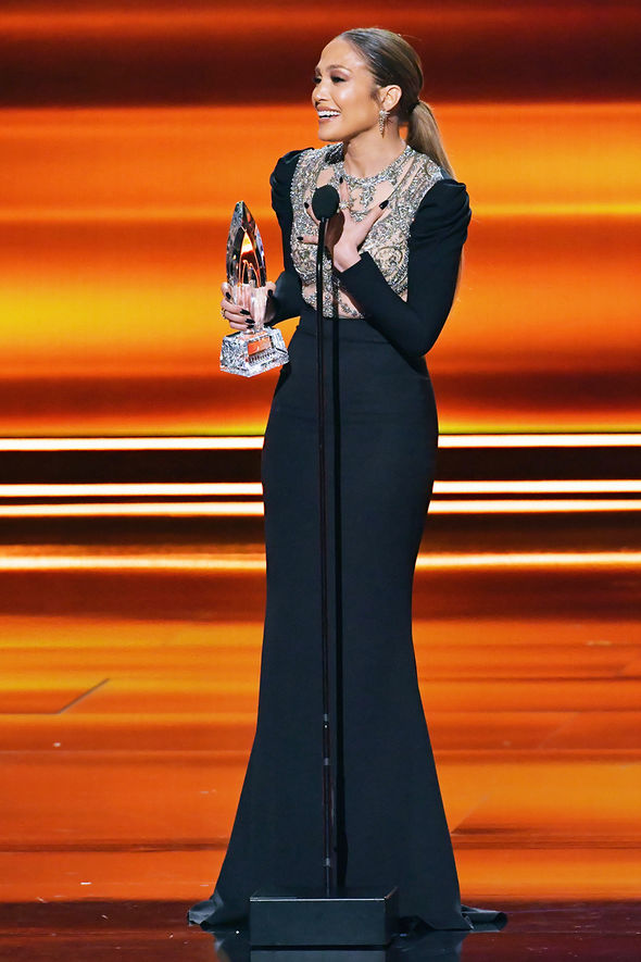 Jennifer Lopez won an award on the night