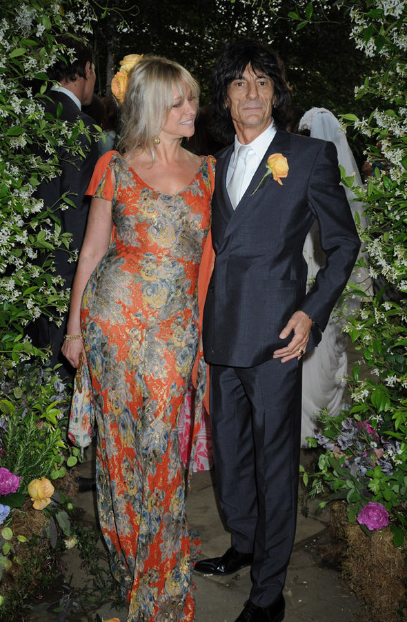 Jo Wood claimed her ex-husband Ronnie will be fine after having a lesion removed from his lungJo Wood claimed her ex-husband Ronnie will be fine after