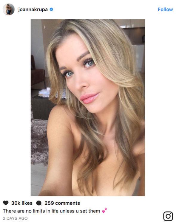 Joanna Krupa nip slip nipples bikini breasts beach Instagram
