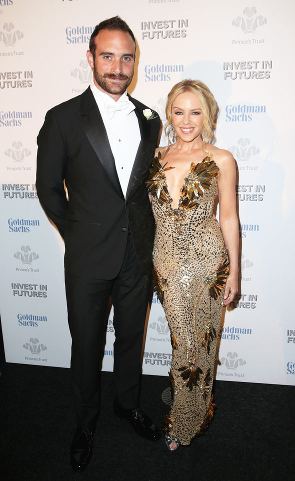 Joshua Sasse and Kylie Minogue