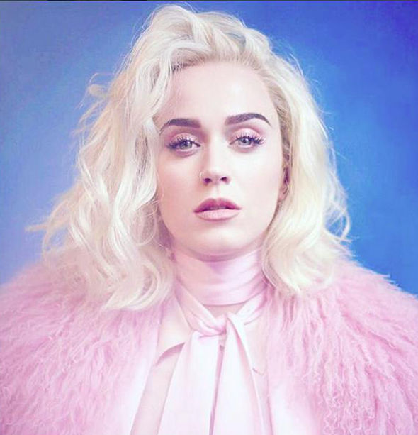 Katy Perry teased fans with her new blonde look