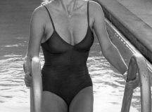 Linda Evans in swimsuit