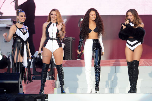 Little Mix took to the stage in monochrome ensembles