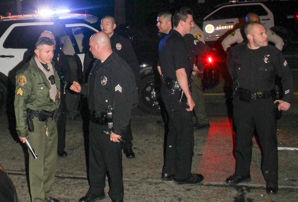 Los Angeles police attend nightclub shooting