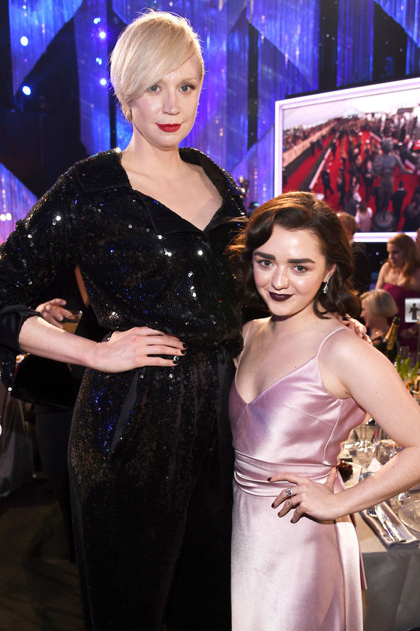 Maisie Williams and Gwendoline Christie