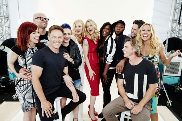 Nelsan Ellis with the cast of HBO vampire drama True Blood