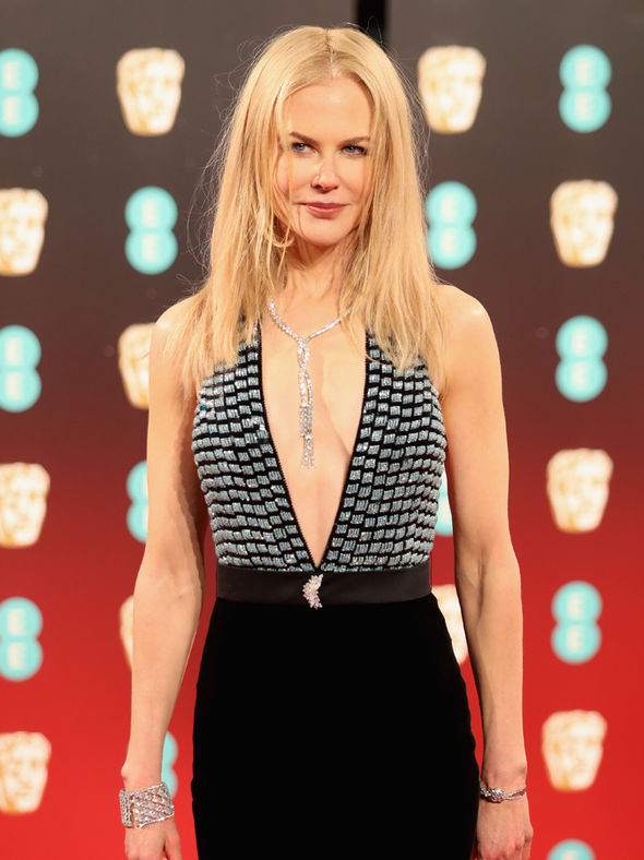 Nicole Kidman on the red carpet at the BAFTAs 2017