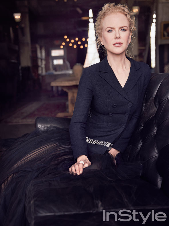 Nicole Kidman in black Dior gown
