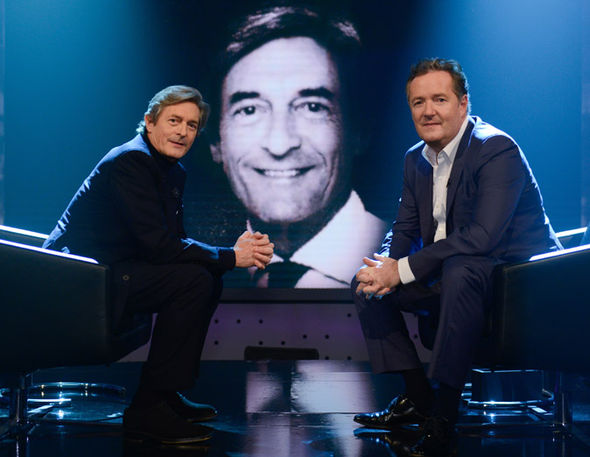 Nigel Havers and Piers Morgan