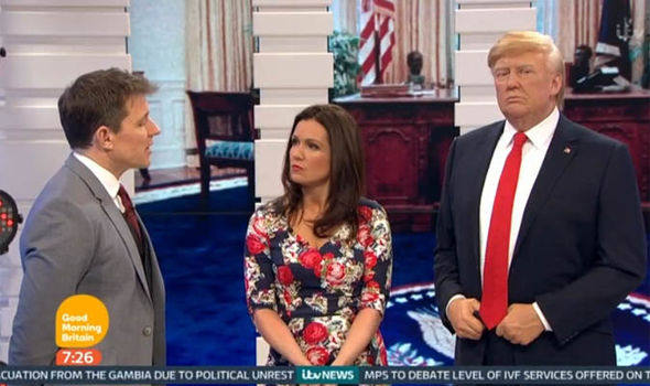 Susanna Reid met Donald Trump on Good Morning Britain
