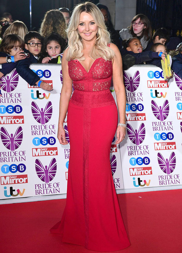 Pride of Britain 2017 Carol Vorderman cleavage red dress age 2017 children